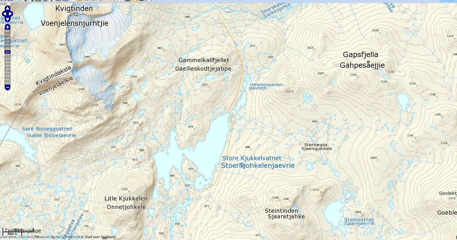 kart over børgefjell Fra Namsvattil Fiplingdalen   Børgefjell på sitt beste kart over børgefjell